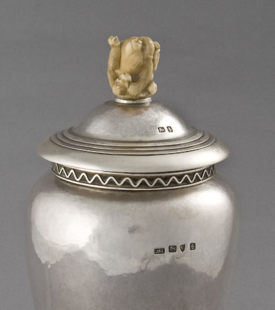 An Arts & Crafts covered jar by J.A.Leece